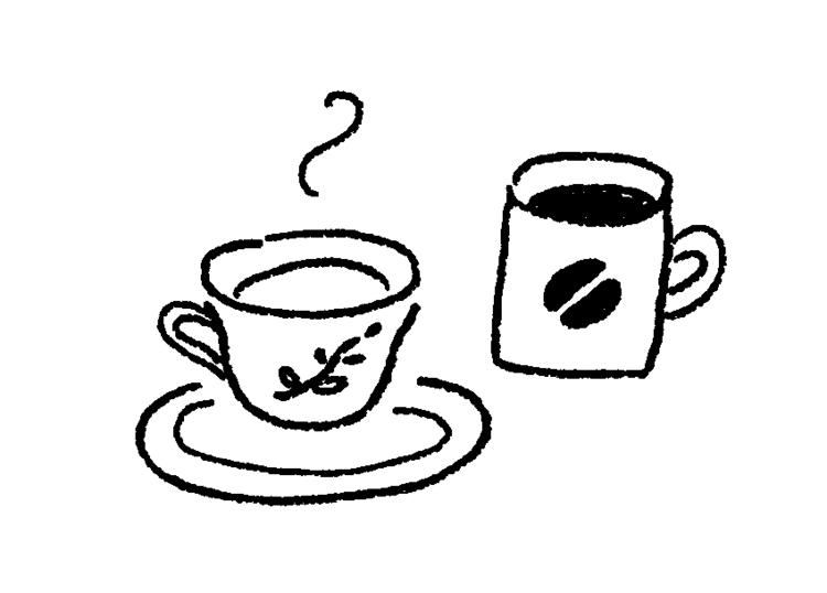飲むんだったらコーヒーorハーブティー