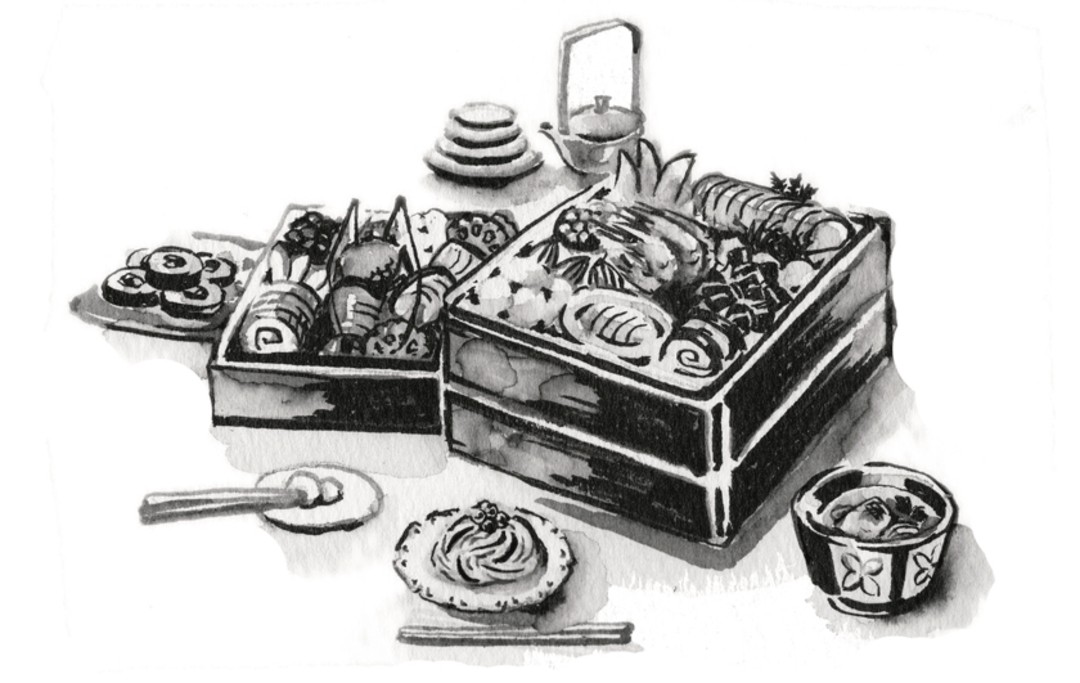 ◆お節料理やごちそうが並んだときは、取り分け方で工夫を!