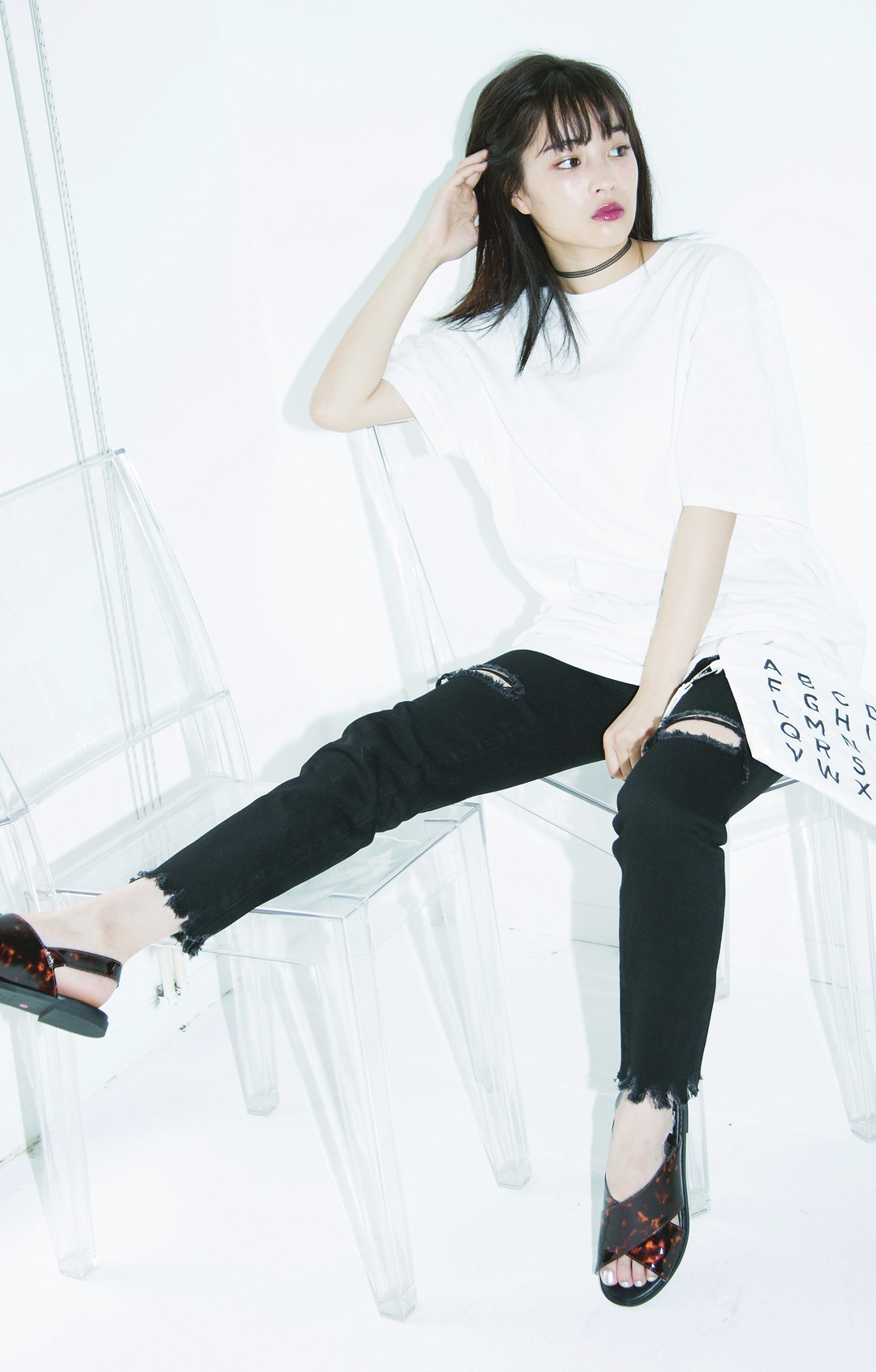 Coolな気分の時の白T①…無地のビッグT☆