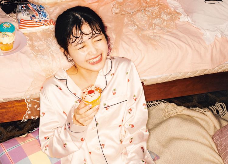 いちご×ピンクのパジャマって最強の女子会ウエアじゃない?