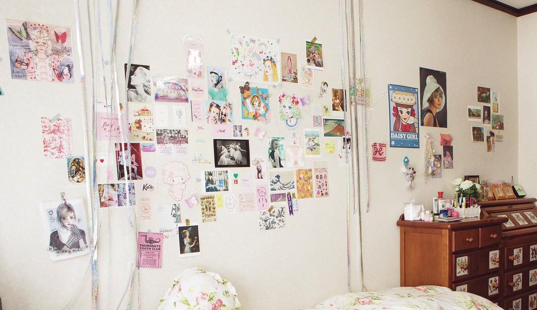①レトロな雰囲気が好きで、「昔の外国の女のコの部屋」がイメージ