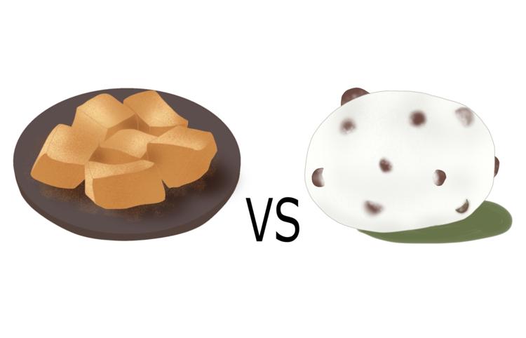 わらび餅VS大福