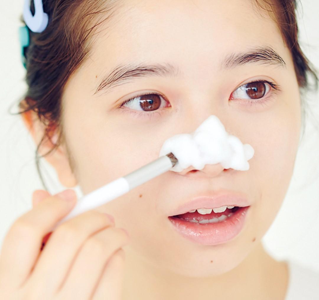 毛穴洗顔ブラシを使ってみよう