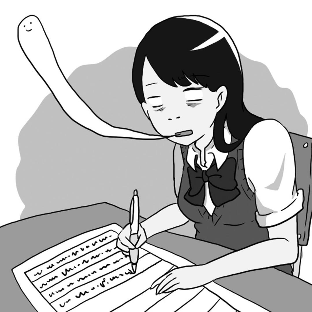 『校則をやぶった者は、写経をする』(くるくるまこ・高1)