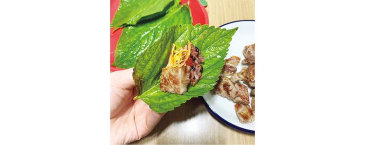 21:30 夕食は野菜たっぷりな韓国料理