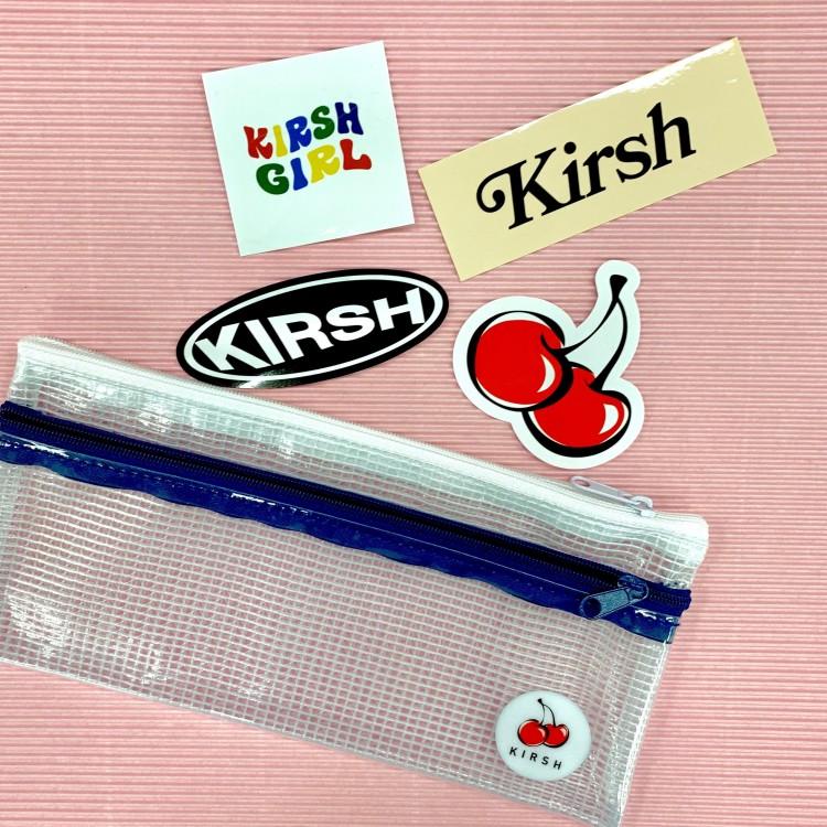 単品でもかわいい! 『KIRSH』のクリアペンケースとロゴステッカー♡