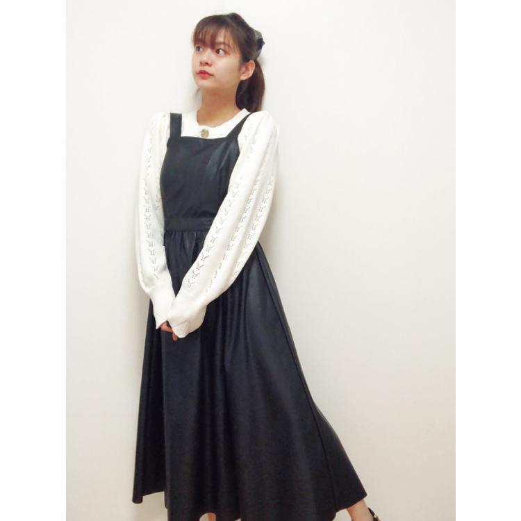 [莉子]ガーリーに着られるレザージャンスカ