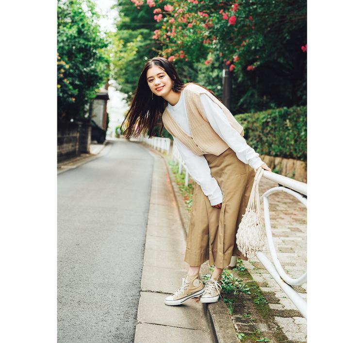 白っぽベージュっぽコーデは韓国女子がイメージだよ