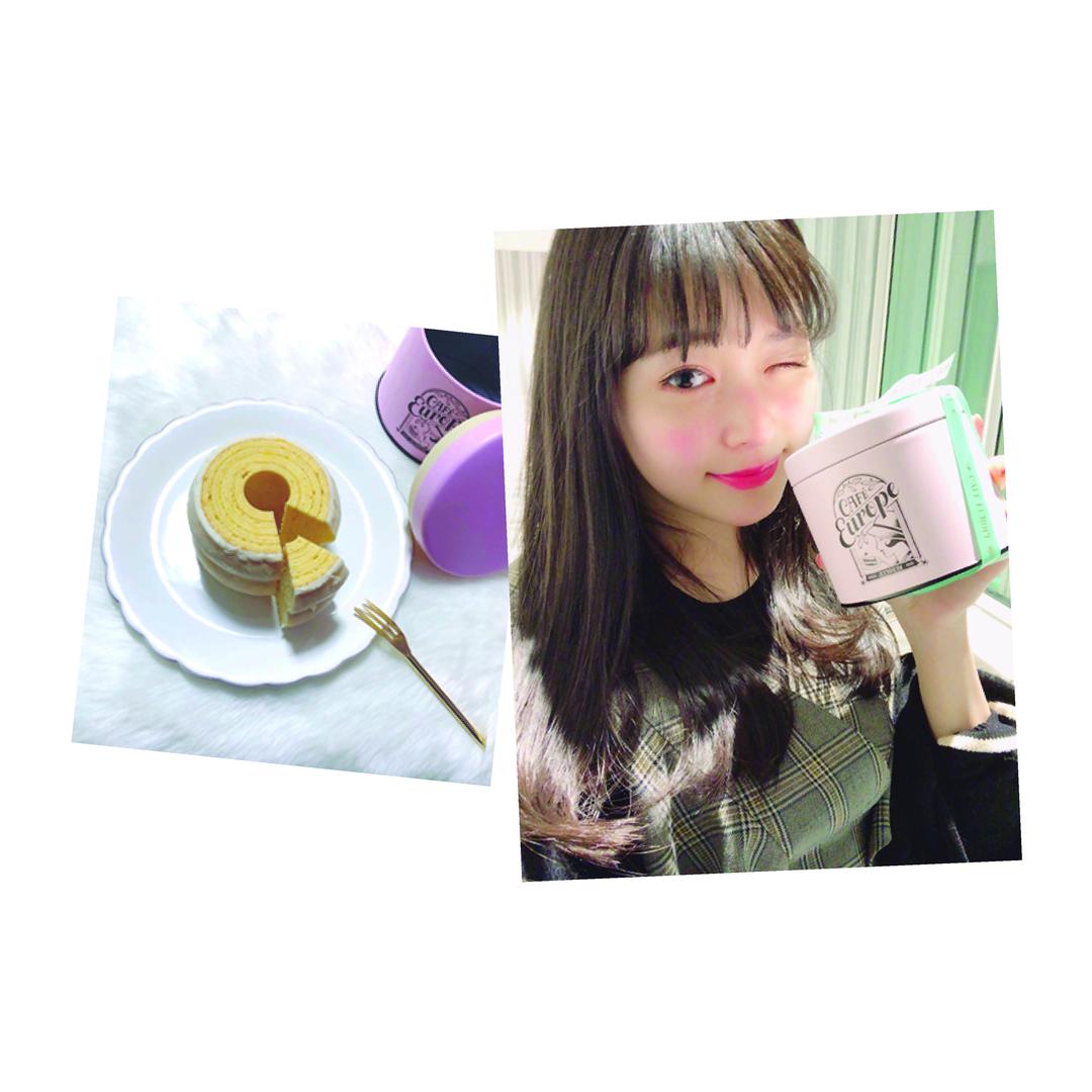 """久間田琳加ちゃんは""""カフェ・ユーロップのバウムクーヘン"""""""