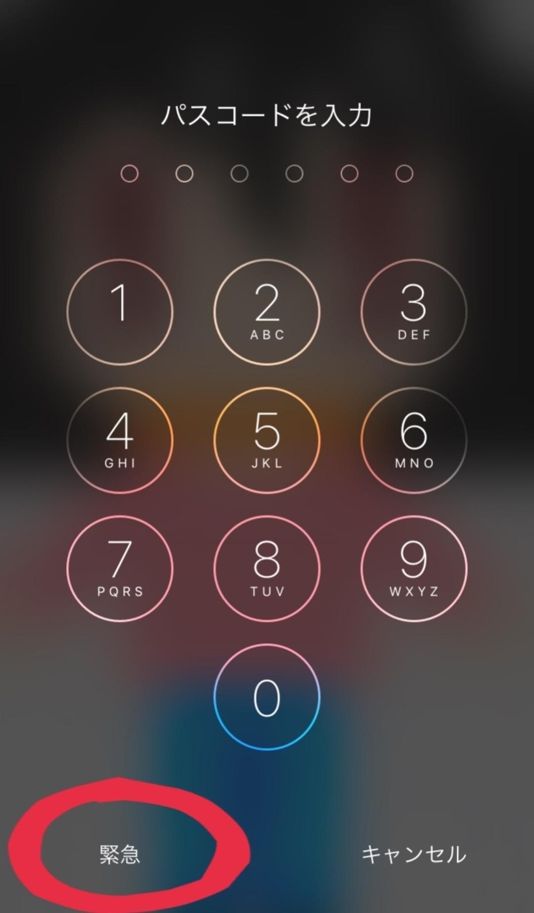そう、「メディカルID」はロックを開かずに確認できる!
