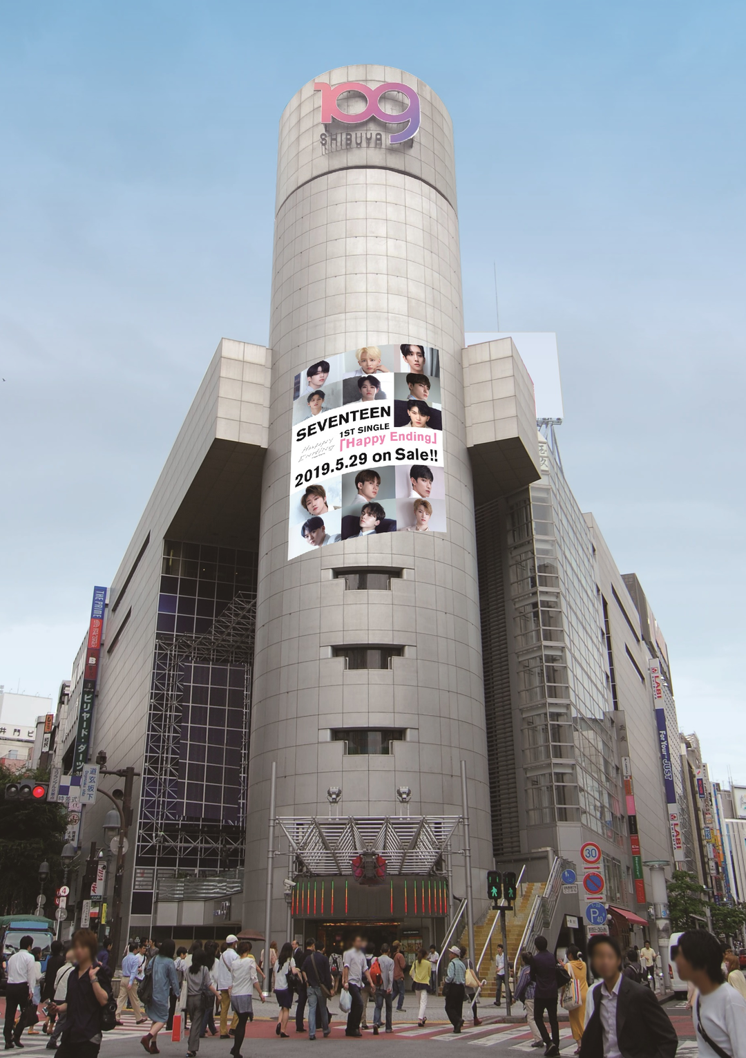 SHIBUYA109各施設に「SEVENTEEN」のビジュアルが登場!!