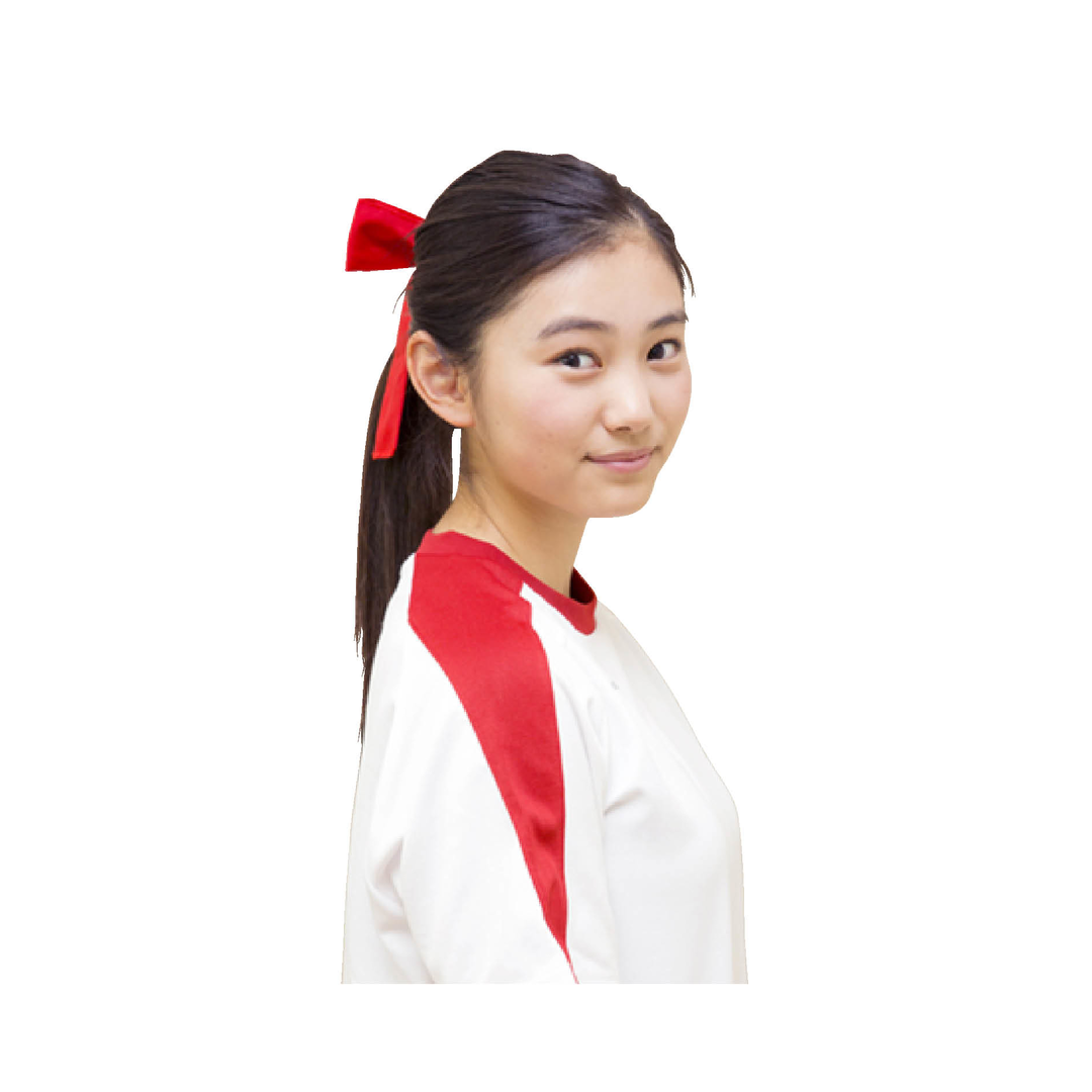 モテ♡→【ポニテの結び目にハチマキ】