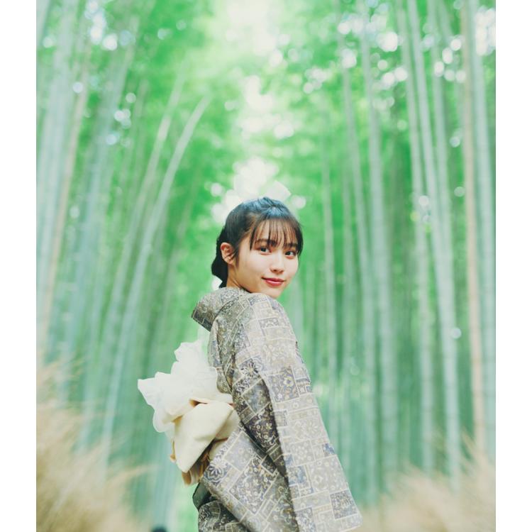 〈嵐山〉の竹林は着物で気分出して♡