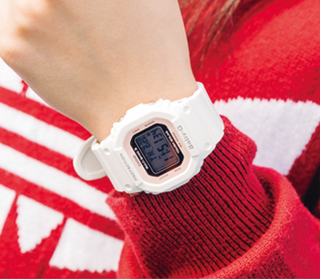 腕時計はゴツめ 『BABY-G』で華奢見せ