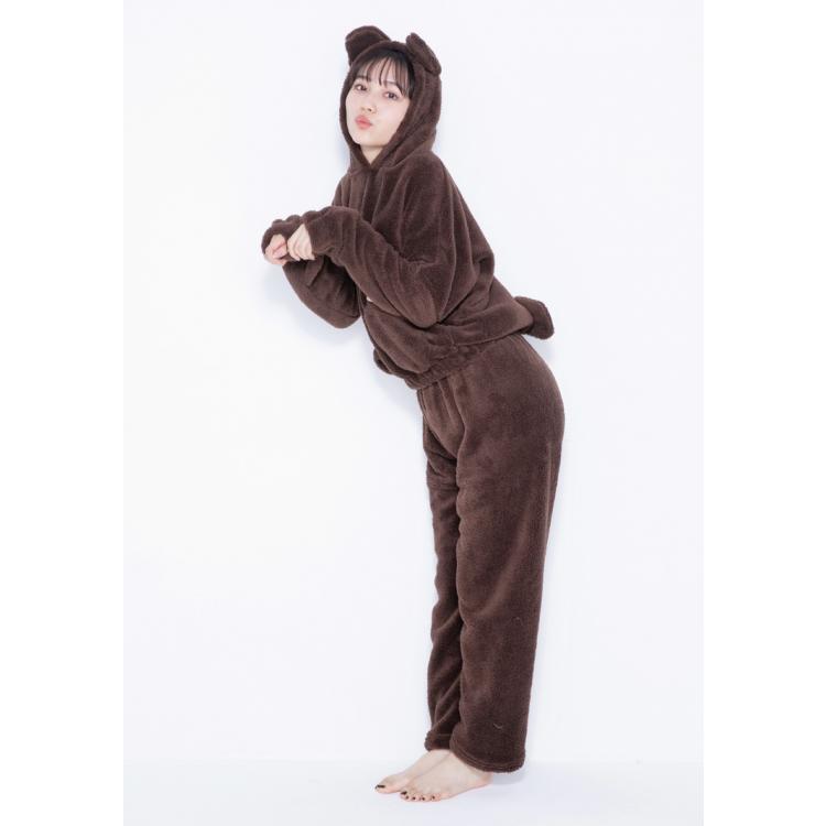 【2位】汐梨のもこもこクマ耳パジャマ