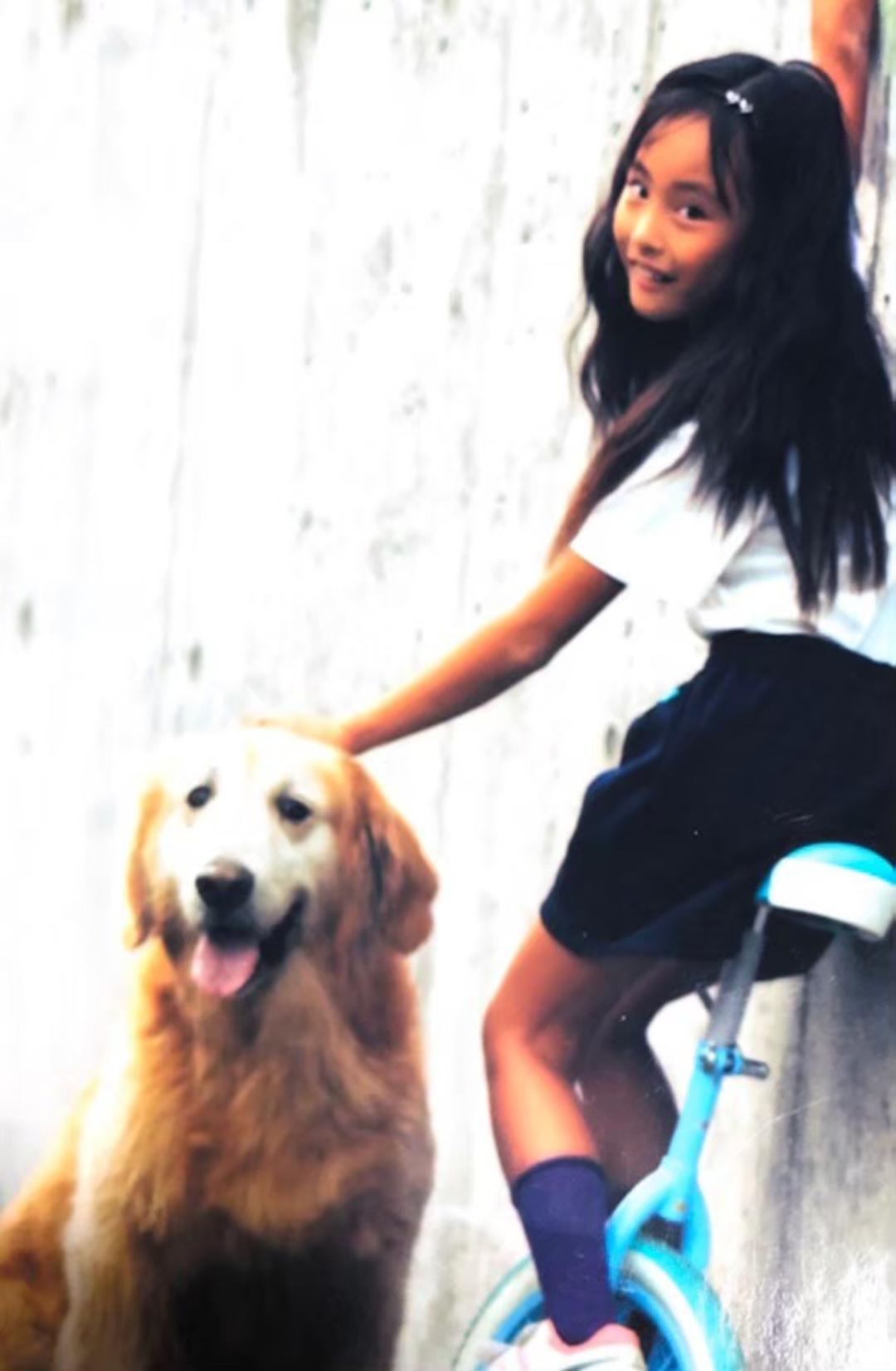 愛犬とお気に入りの一輪車とパシャリ⭐︎