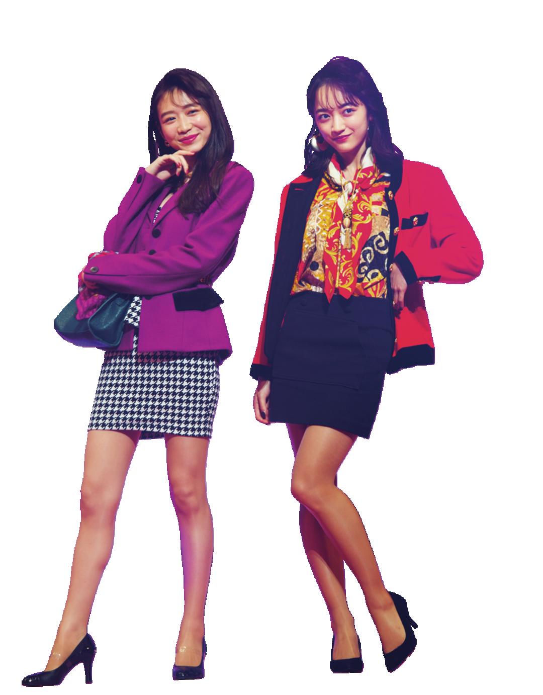 岡本夏美ちゃん、下村実生ちゃん×'80年代 style