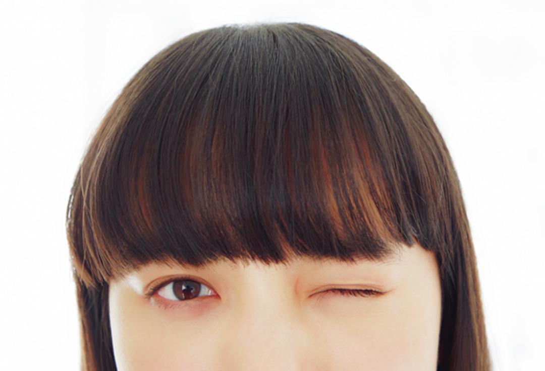 3位 眉下の重め前髪