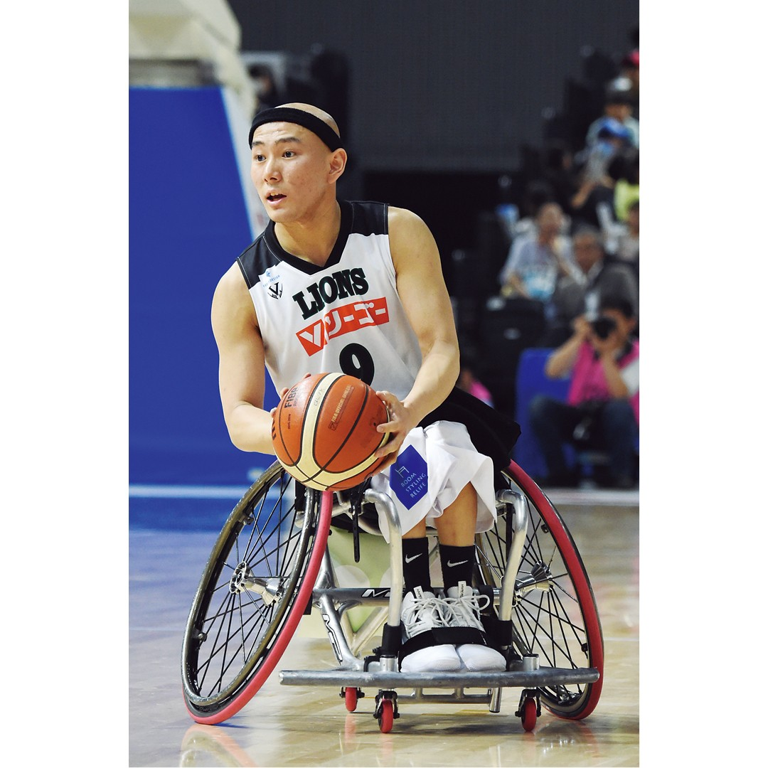 車いすバスケットボール 赤石竜我選手