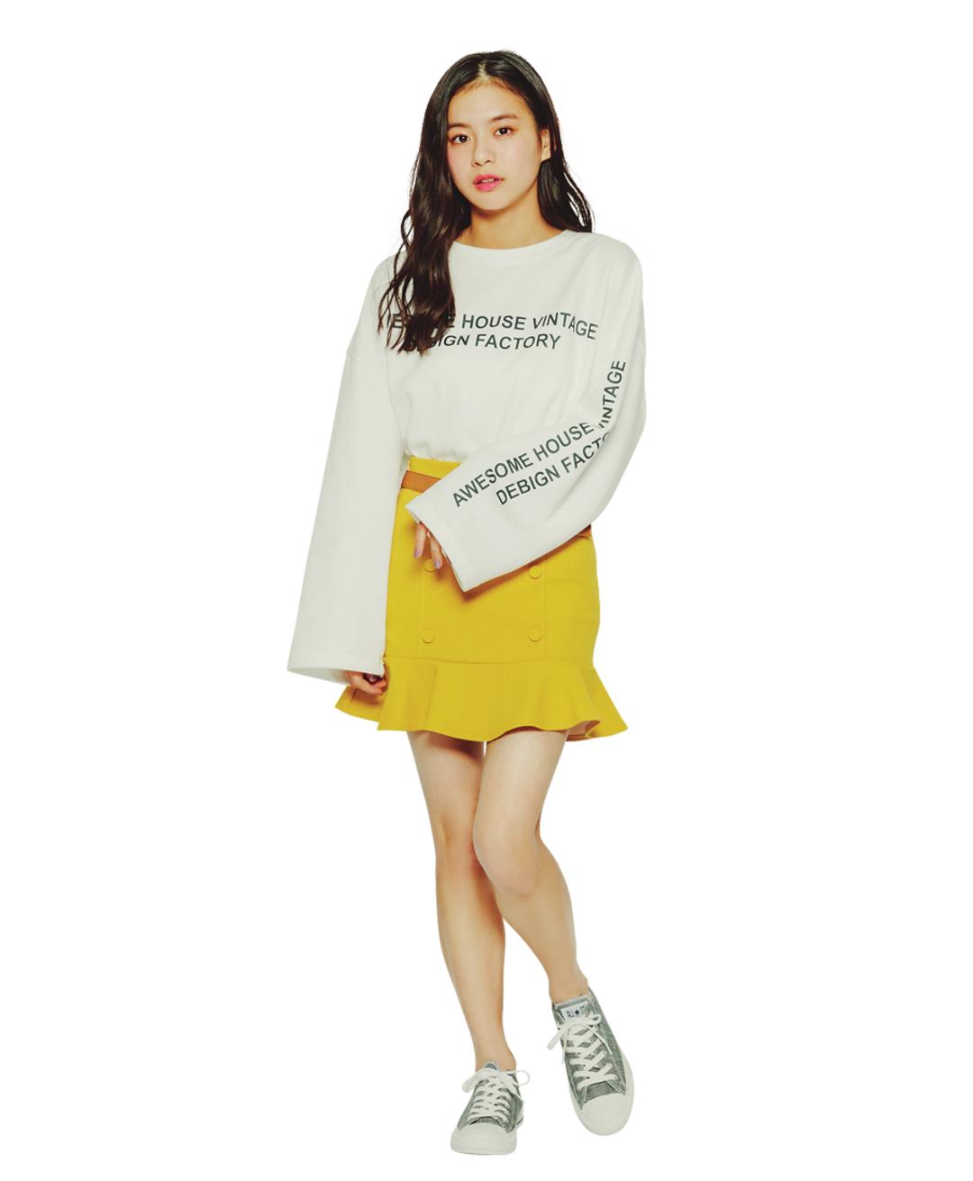 【莉子】韓国ガール風のおしゃワンツー