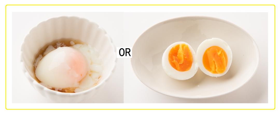 温泉卵かゆで卵、おやつに食べるなら?