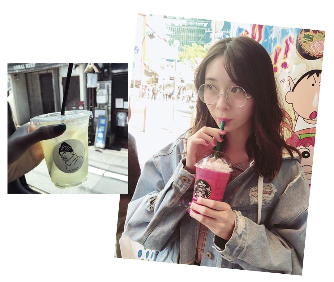 田鍋梨々花は冷たい飲み物!