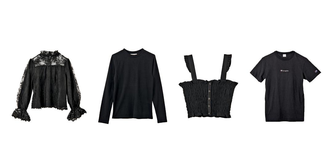 こんちゃんの私服には「黒トップス」がこんなに!