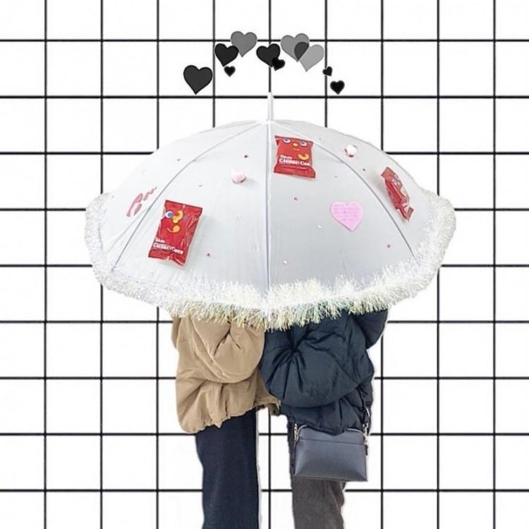 無地の傘がポイント!