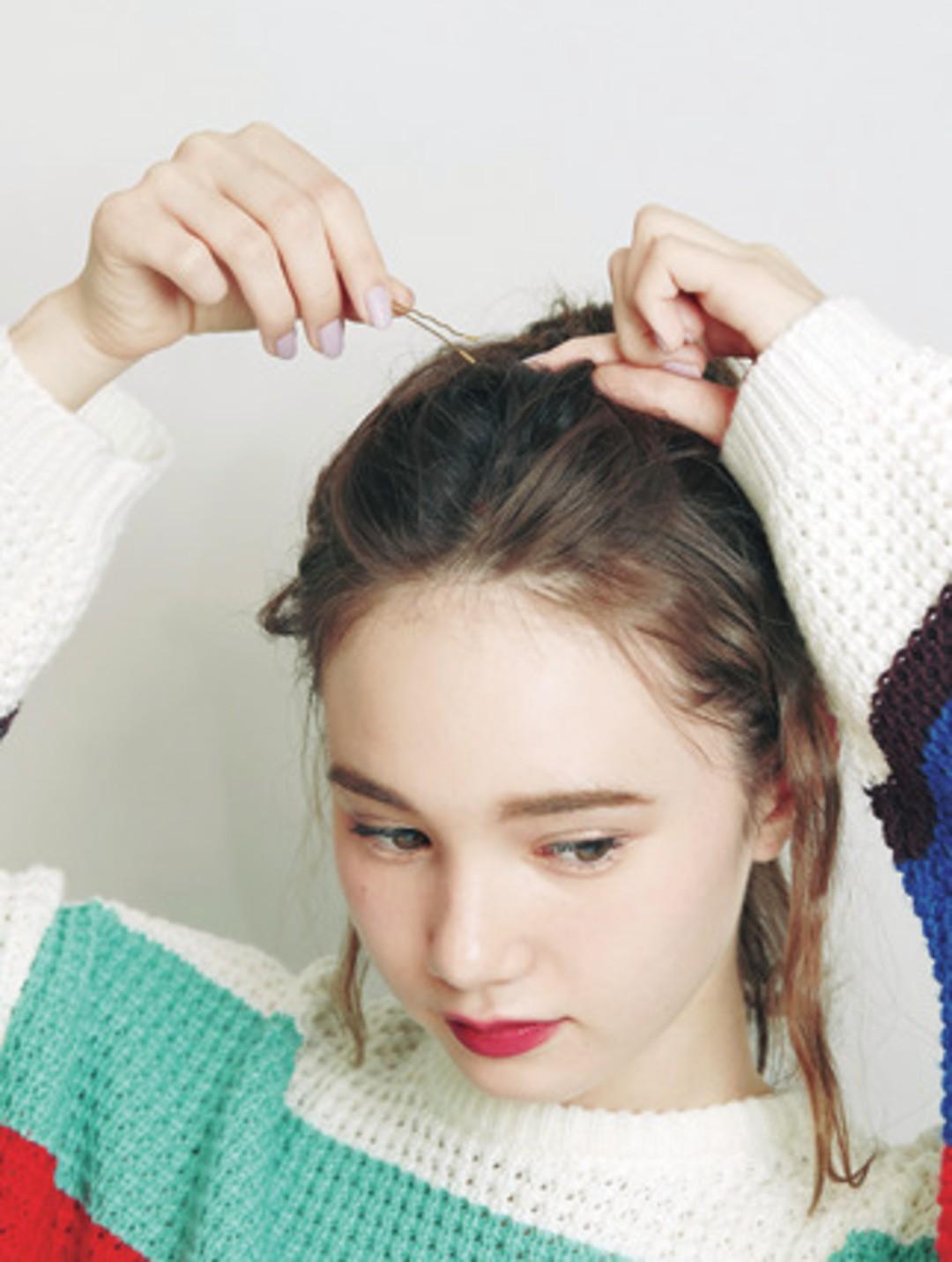 How to♡ 1・前髪をピンで固定