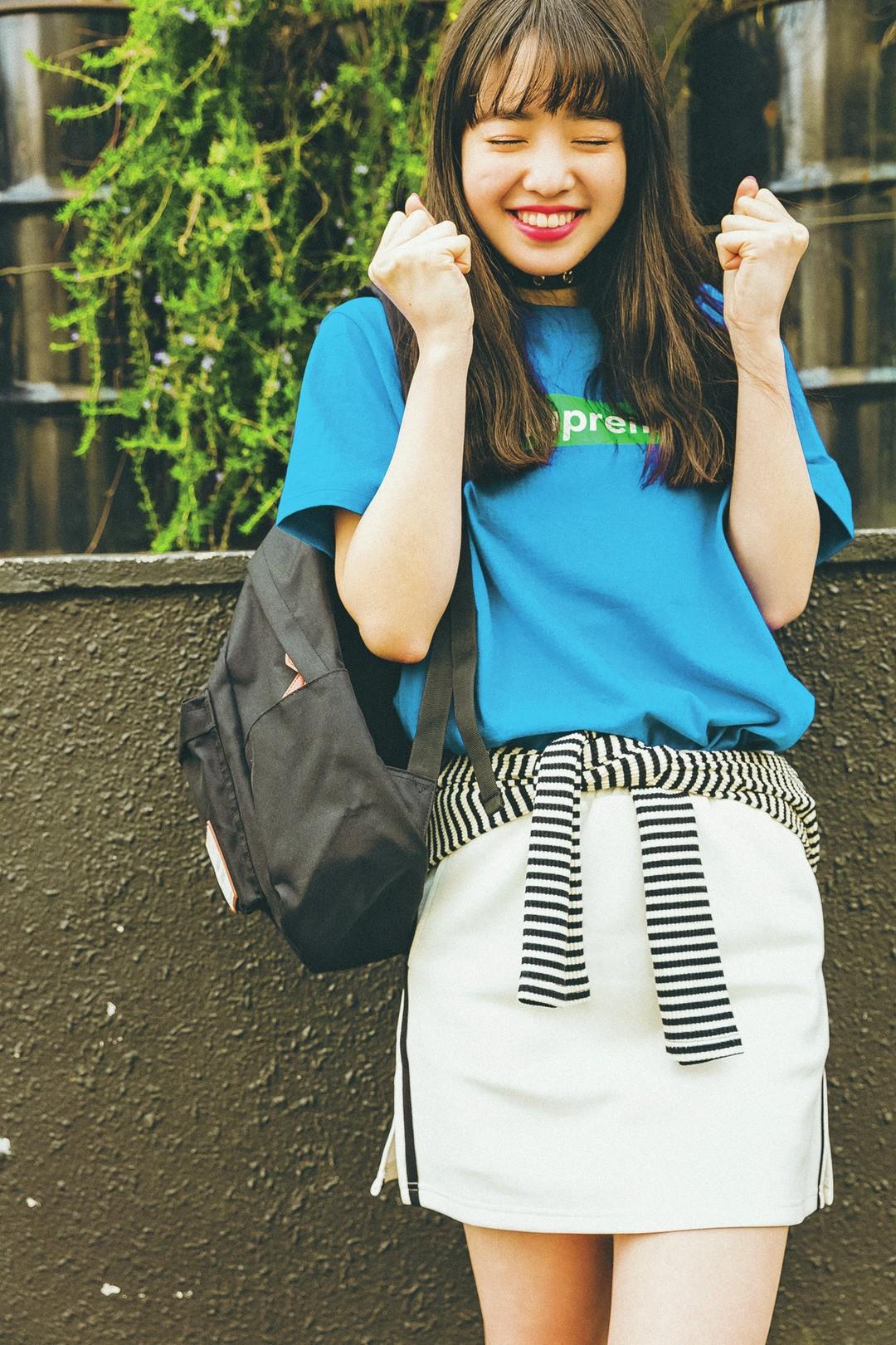 白×黒×青でリンクコーデ♡