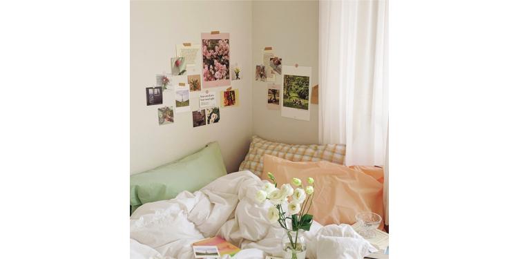 風景や花のポストカードを貼るのもハヤリ!