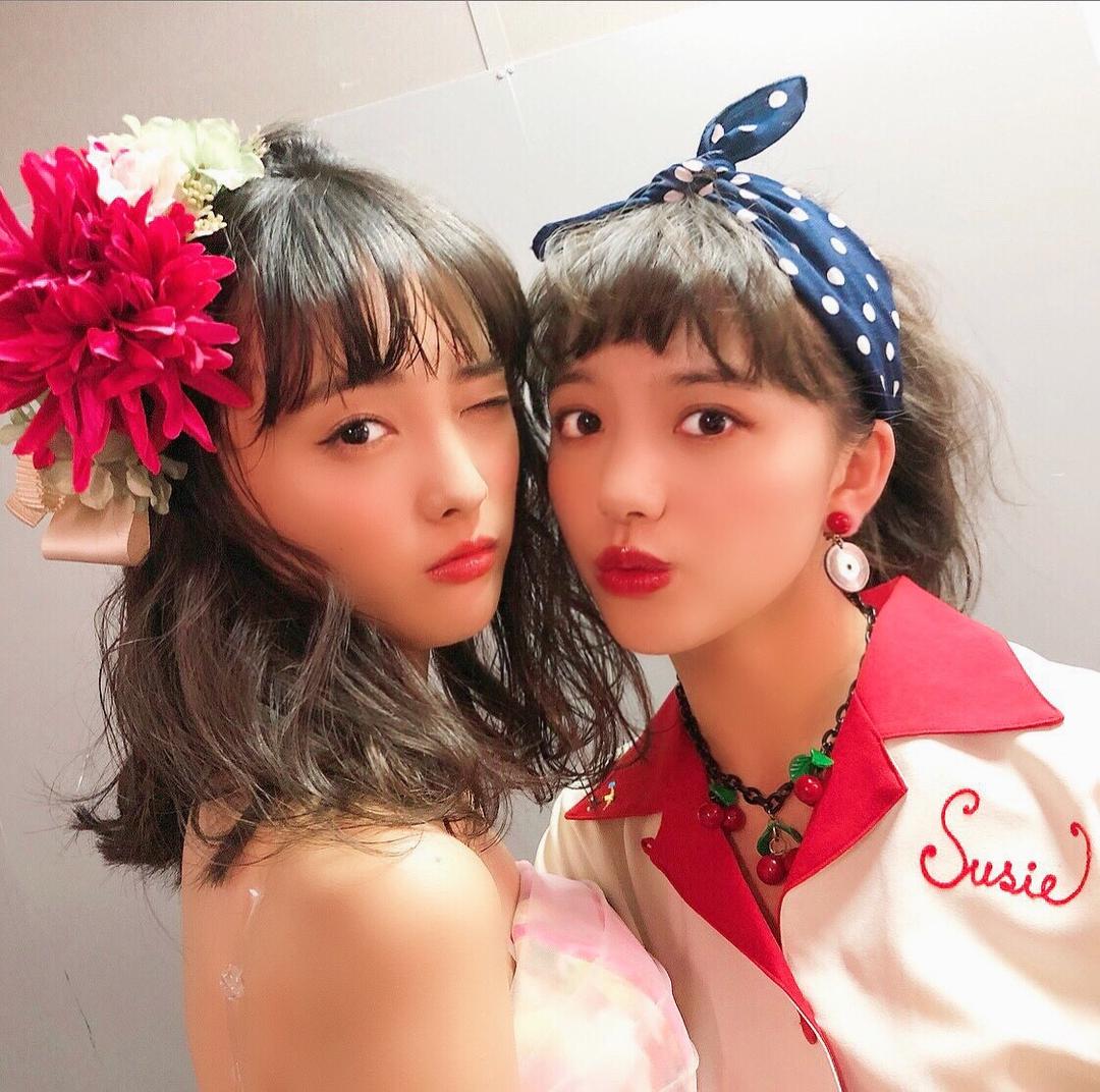 花恋ちゃんは華やかかわいい、果耶ちゃんはレトロガーリーなヘアメイク♡