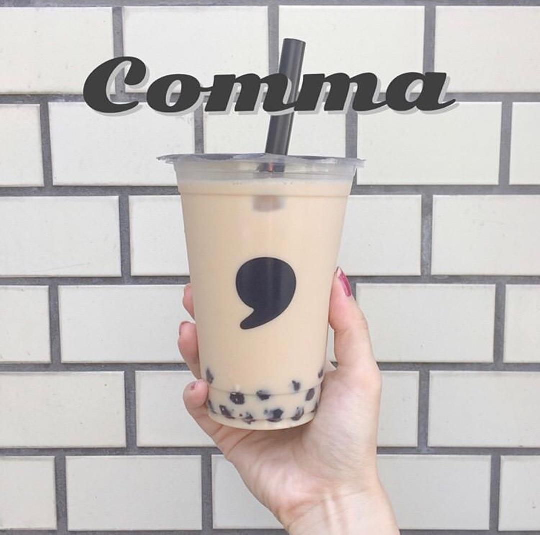 ミルクフォームをあぶっちゃう!?「comma tea(コンマティー)」