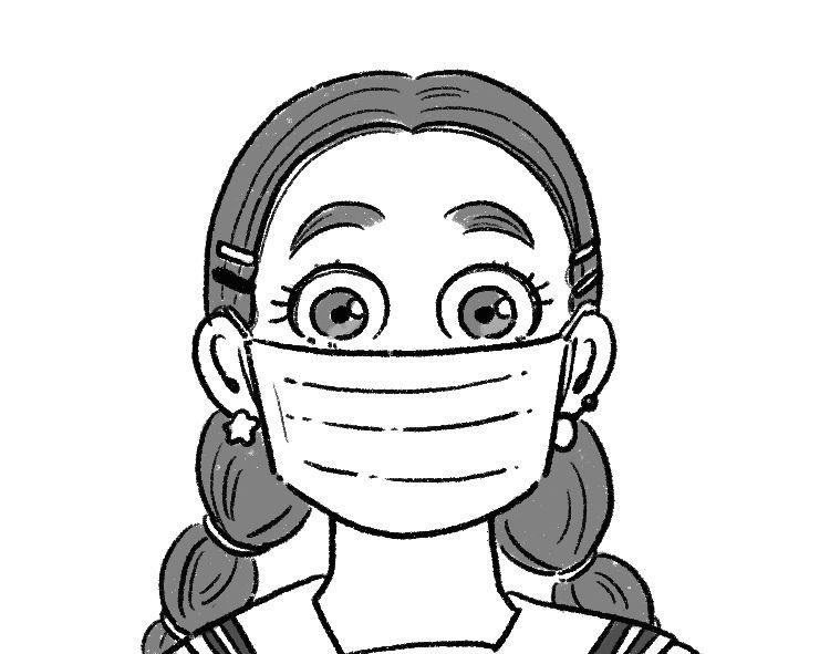 【心理テスト①】下のイラストのマスクの上に、男子に口を描いてもらって!