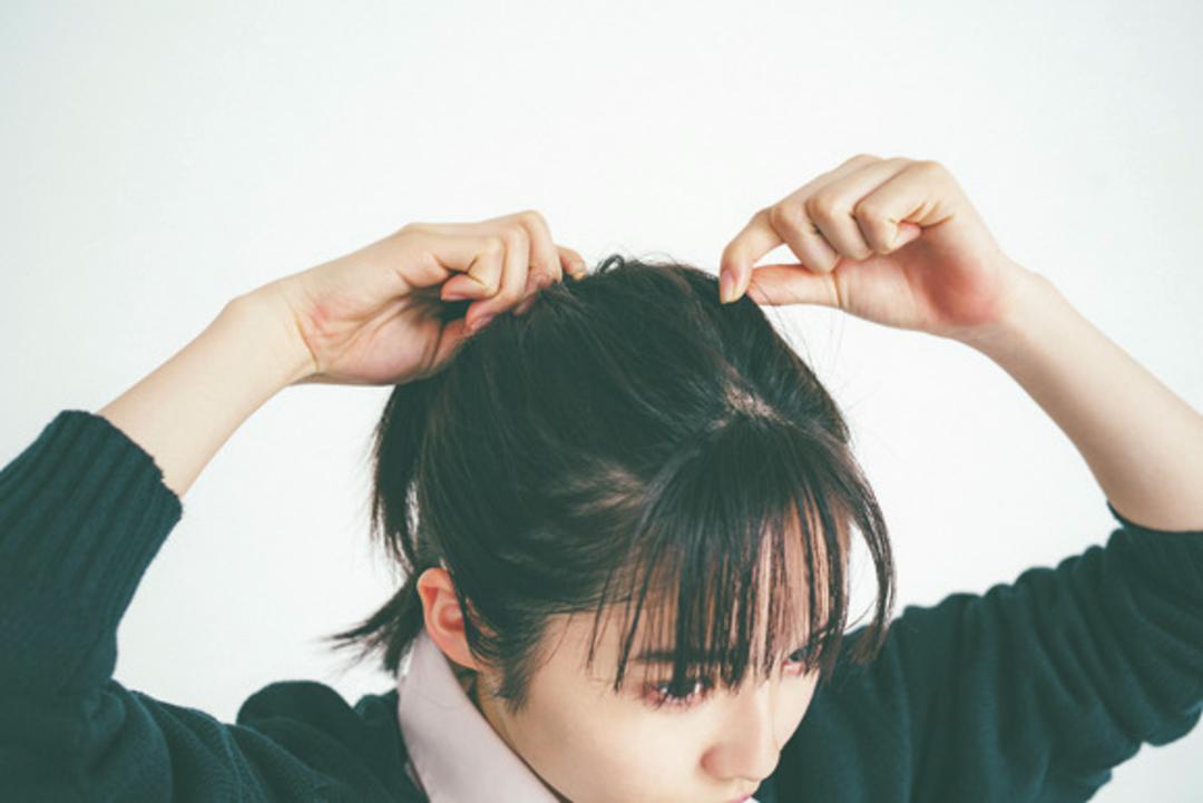 ポイントになる前髪ともみあげのやり方