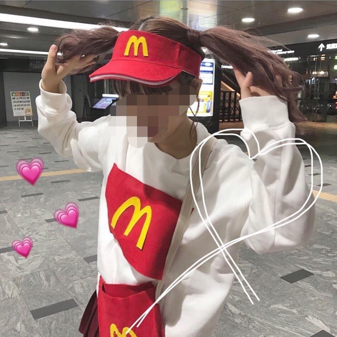 手作り感がかわいい「マクドナルド」ガール★