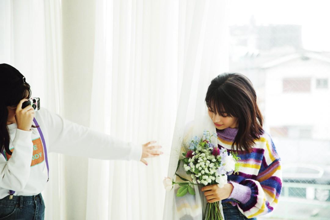 めいカメラマンのテーマは「お花とすずちゃん絶対合うよね♪」