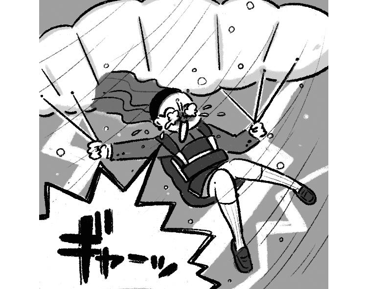 【心理テスト②】好きな人のことを考えながらパラグライダーに乗っていたら、嵐に巻き込まれ墜落!